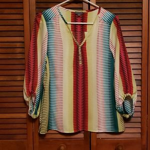 Colorful flowly tunic